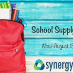 synergy heath school supply drive